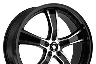 "KONIG® - AIRSTRIKE Black with Machined Face (17"" x 8"", +45 Offset, 5x114.3 Bolt Pattern, 73.1mm Hub)"