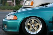 KONIG® - CANDY Gold with Machined Lip on Honda Civic