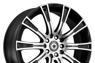 KONIG® - CROWN Gloss Black with Machined Face
