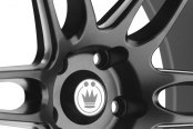 KONIG® - DECEPTION Matte Black with Ball Cut Machined Spokes Close-Up