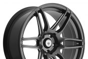 KONIG® - DECEPTION Matte Black with Ball Cut Machined Spokes