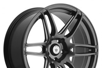 "KONIG® - DECEPTION Matte Black with Ball Cut Machined Spokes (18"" x 8"", +40 Offset, 5x114.3 Bolt Pattern, 73mm Hub)"