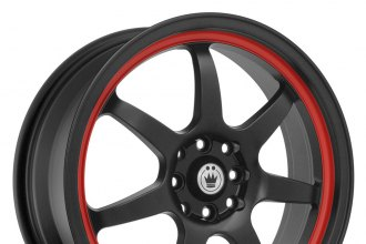"KONIG® - FORWARD Black with Red Stripe (17"" x 7"", +40 Offset, 4x100 Bolt Pattern, 73.1mm Hub)"