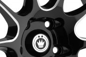 KONIG® - ILLUSION Black with Ball Cut Machined Spokes Close-Up
