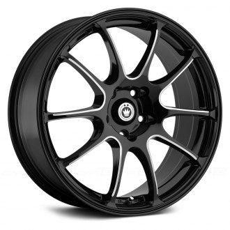 KONIG® - ILLUSION Black with Ball Cut Machined Spokes