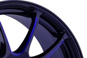 KONIG® - ILLUSION Black with Blue Ball Cut Machined Spokes Close-Up