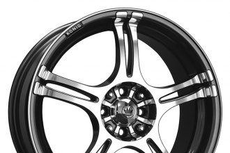"KONIG® - INCIDENT Graphite with Machined Face (14"" x 6"", +38 Offset, 4x100 Bolt Pattern, 73.1mm Hub)"