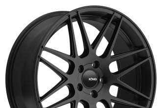 "KONIG® - INTEGRAM Matte Black (17"" x 9"", +27 Offset, 5x114.3 Bolt Pattern, 73.1mm Hub)"
