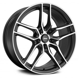 KONIG® - INTENTION Gloss Black with Machined Face