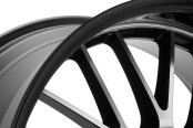 KONIG® - LACE Gloss Black with Mirror Machined Face Close-Up