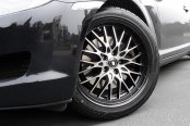 KONIG® - LACE Gloss Black with Mirror Machined Face on Mazda RX-8