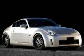 KONIG® - LACE Gloss Black with Mirror Machined Face on Nissan 350-Z