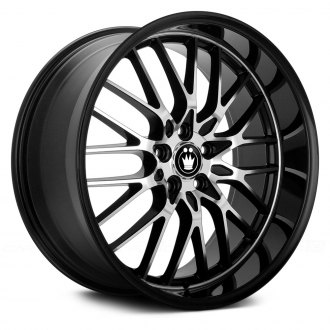 KONIG® - LACE Gloss Black with Mirror Machined Face