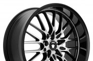 "KONIG® - LACE Gloss Black with Mirror Machined Face (18"" x 8"", +45 Offset, 5x100 Bolt Pattern, 73.1mm Hub)"