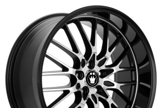 "KONIG® - LACE Gloss Black with Mirror Machined Face (18"" x 8"", +45 Offset, 5x112 Bolt Pattern, 73.1mm Hub)"