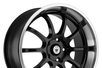 "KONIG® - LIGHTNING Black with Machined Lip (17"" x 7"", +40 Offset, 5x100 Bolt Pattern, 73.1mm Hub)"