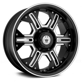 KONIG® - LOCKNLOAD Matte Black with Ball Cut Machined Spokes