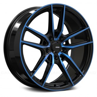 KONIG® - MYTH Gloss Black with Blue Tinted Clear Coat