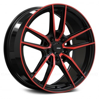 KONIG® - MYTH Gloss Black with Red Tinted Clear Coat