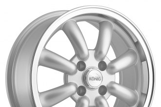 "KONIG® - REWIND Silver with Machined Lip (15"" x 7"", +40 Offset, 4x100 Bolt Pattern, 73.1mm Hub)"