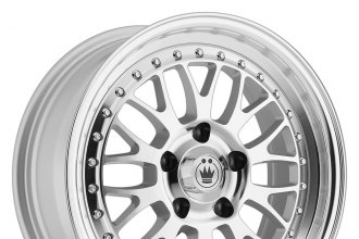 "KONIG® - ROLLER Silver with Machined Face (16"" x 7.5"", +40 Offset, 5x114.3 Bolt Pattern, 73.1mm Hub)"