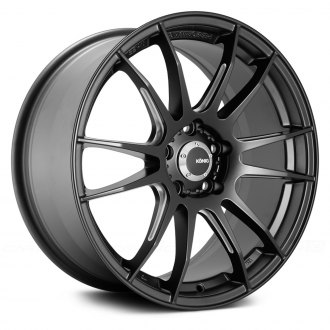 KONIG® - TORCH Matte Black with Ball Cut Machined Spokes