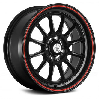KONIG® - TWEAKD Gloss Black with Red Stripe