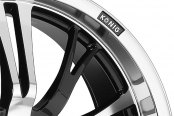 KONIG® - UNKNOWN Gloss Black with Machined Face and Lip Close-Up