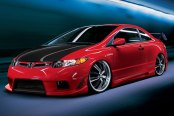 KONIG® - UNKNOWN Gloss Black with Machined Face and Lip on Honda Civic Si