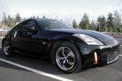 KONIG® - UNKNOWN Gloss Black with Machined Face and Lip on Nissan 350Z