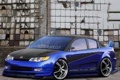 KONIG® - UNKNOWN Gloss Black with Machined Face and Lip on Saturn Ion