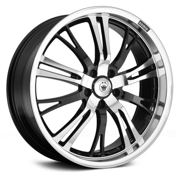 KONIG® - UNKNOWN Gloss Black with Machined Face and Lip