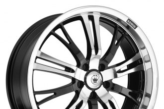"KONIG® - UNKNOWN Gloss Black with Machined Face and Lip (20"" x 8"", +40 Offset, 5x114.3 Bolt Pattern, 73.1mm Hub)"