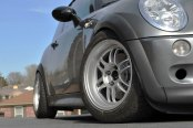 KONIG® - WIDEOPEN Silver with Machined Lip on Mini Cooper