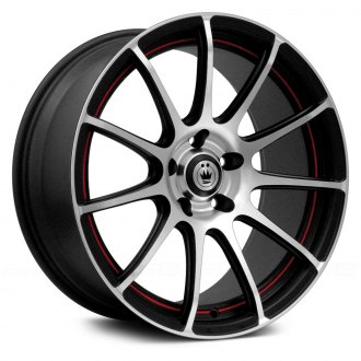 KONIG® - Z-IN Matte Black with Machined Face and Red Undercut