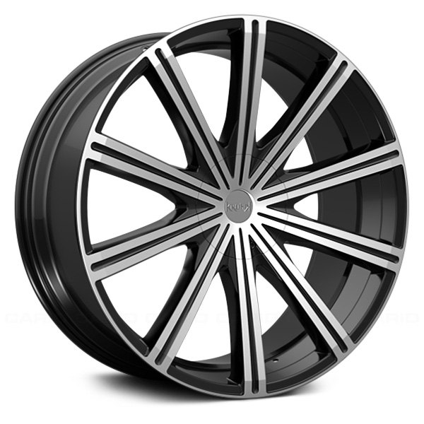 KRONIK® EPIQ Wheels - Gloss Black with Machined Face Rims