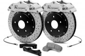KSport® - ProComp Cross Drilled Brake Kit with 4 Pistons Calipers