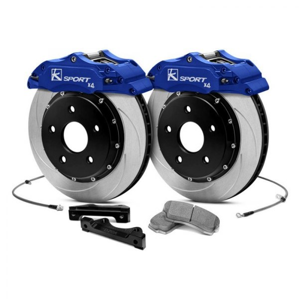 Image may not reflect your exact vehicle! KSport® - ProComp Slotted Brake Kit with 4 Pistons Calipers
