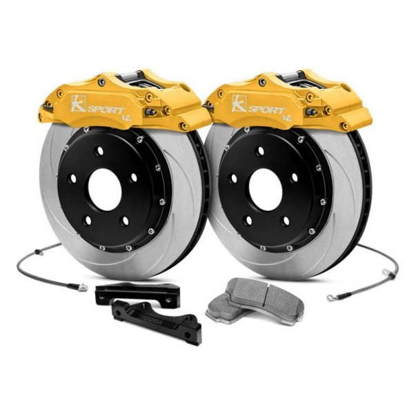 KSport® - ProComp Slotted Floating Rear Brake Kit with 4-Piston Calipers