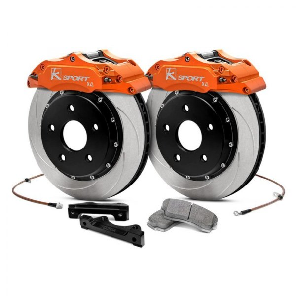 KSport® - ProComp ProComp Slotted Fixed Rear Brake Kit with 4-Piston Calipers