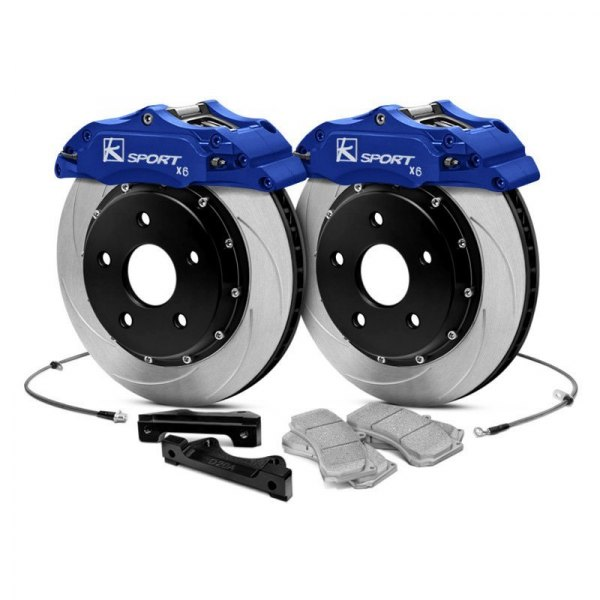 KSport® - ProComp ProComp Slotted Fixed Rear Brake Kit with 6-Piston Calipers