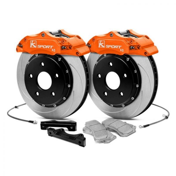 KSport® - ProComp Slotted Fixed Front Brake Kit with 6-Piston Calipers