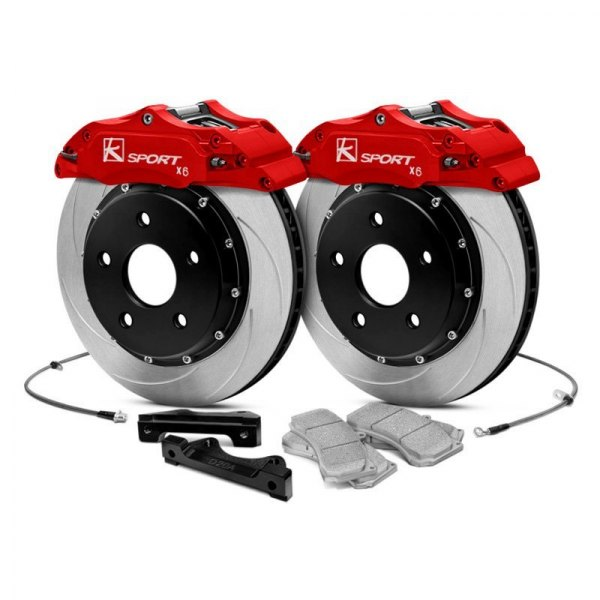 KSport® - ProComp Slotted Floating Rear Brake Kit with 6-Piston Calipers