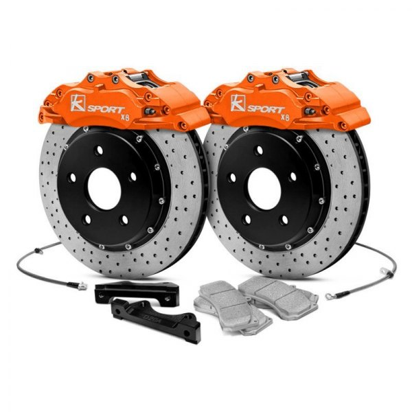 KSport® - ProComp ProComp Cross Drilled Floating Front Brake Kit with 8-Piston Calipers