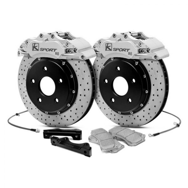 KSport® - ProComp Cross Drilled Brake Kit with 8 Pistons Calipers