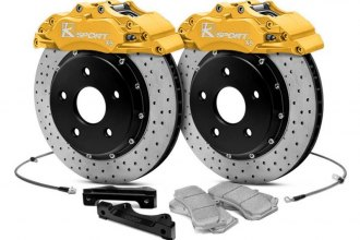 KSport® BKAU140-831CYRP - ProComp Cross Drilled Fixed Front Brake Kit