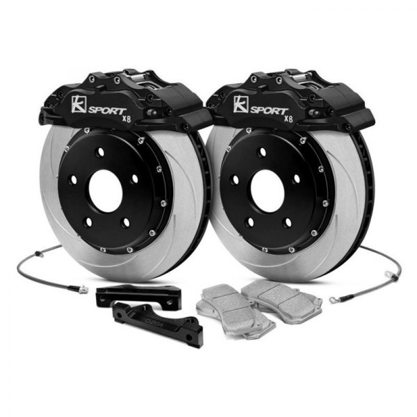 KSport® - ProComp Slotted Fixed Front Brake Kit with 8-Piston Calipers