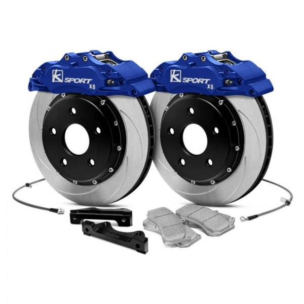 KSport® - ProComp Slotted Floating Front Brake Kit with 8-Piston Calipers