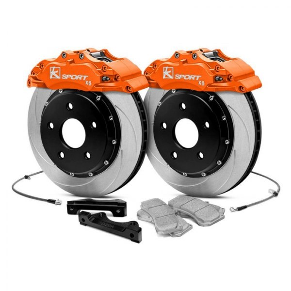 KSport® - ProComp Slotted Brake Kit with 8 Pistons Calipers