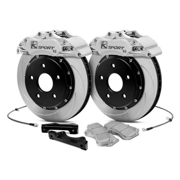 KSport® - ProComp ProComp Slotted Fixed Front Brake Kit with 8-Piston Calipers